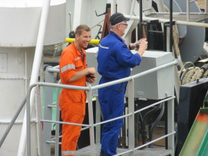 Even crew on the ships are fascinated by the process of going through the locks.