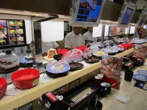 <em>Even the conveyor belt sushi was top-notch.</em>